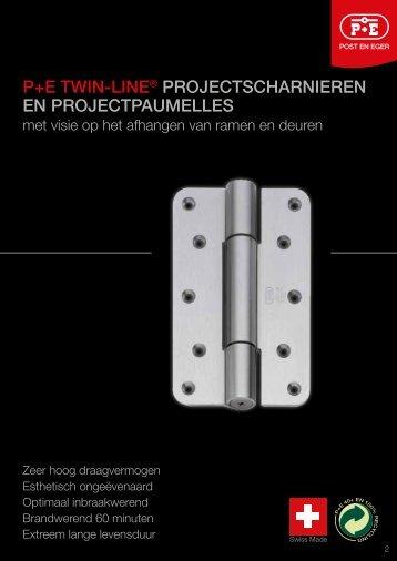 p+e twin-line® projectscharnieren en projectpaumelles - Post en Eger