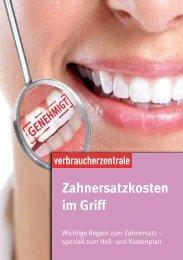 Zahnersatzkosten im Griff - Verbraucherzentrale Niedersachsen