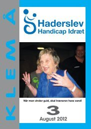 3 K L E M  Å - Haderslev Handicap Idræt