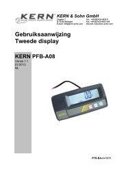 Gebruiksaanwijzing Tweede display - KERN & SOHN GmbH