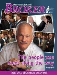 September 2011 - Insurance Brokers Association of Manitoba