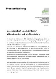 """Innovationskraft """"made in Oelde"""" MMe  präsentiert sich als Dienstleister"""