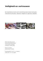 Veiligheid en vertrouwen - O+S Online Onderzoek