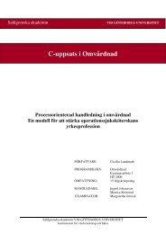 Länk till uppsatsen i fulltext - Svensk sjuksköterskeförening