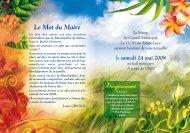 Programme - Ville de Sainte Luce, Martinique