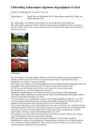 Uitbreiding Aulacomplex algemene begraafplaats te Zeist