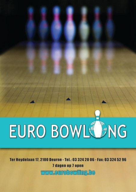 Bekijk ons Menukaart online – Klik hier - Euro-Bowling