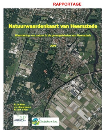Natuurwaardenkaart deel 1 - Gemeente Heemstede