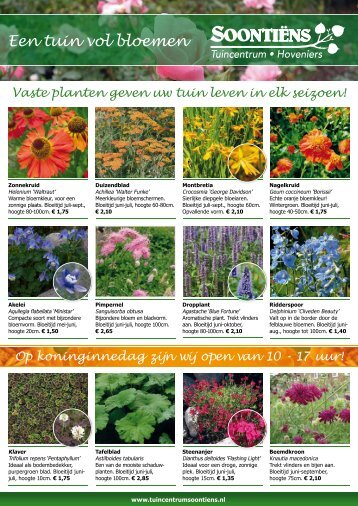 Een tuin vol bloemen - Tuincentrum Soontiëns