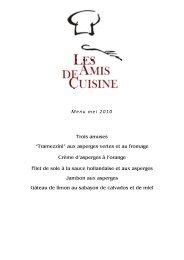 """Menu mei 2010 Trois amuses """"Tramezzini"""" aux asperges vertes et ..."""