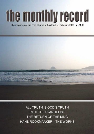 truth is god's truth paul the evangelist - Free Church of Scotland