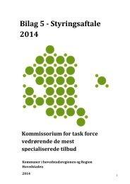 Bilag 5_Styringsaftale 2014.pdf - Rammeaftale Hovedstadsregionen