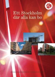 Ett Stockholm där alla kan bo - Socialdemokraterna