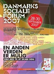 EN ANDEN VERDEN ER MULIG - Danmarks Sociale Forum