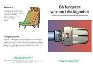 Så fungerar värmen i din lägenhet - Stockholmshem