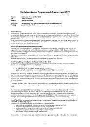 Verslag startbijeenkomst Infrastructuur 30 november 2011 - ROVZ