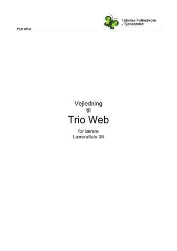 Trio Web for lærere - Læreraftale 08 - Tabulex