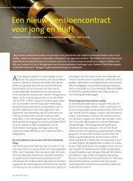 Een nieuw pensioencontract voor jong en oud? - Nederlandse Bond ...
