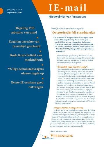 IE-mail september 2007 - Vereenigde