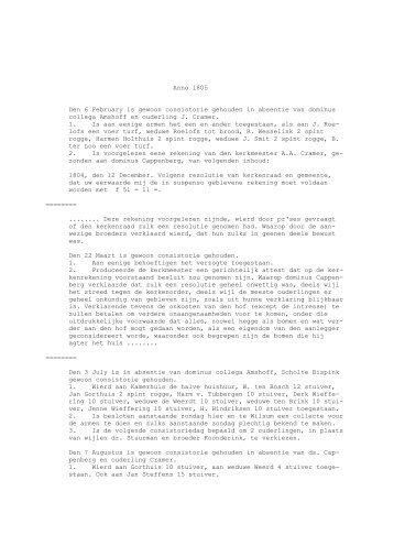 Protokolboek 1805 - Sligt