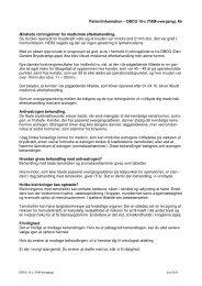 Patientinformation – DBCG 10-c (TAM-overgang), Kir Ændrede ...