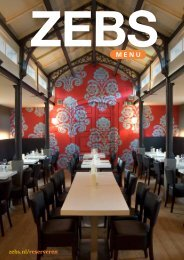Download ZEBS menu - Zebs restaurant
