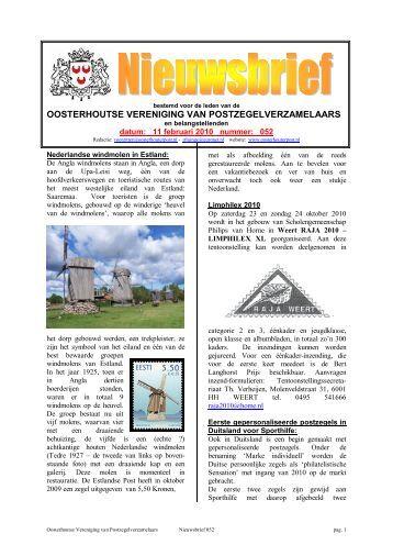 Nieuwsbrief nr. 52 - Oosterhoutse Vereniging van ...
