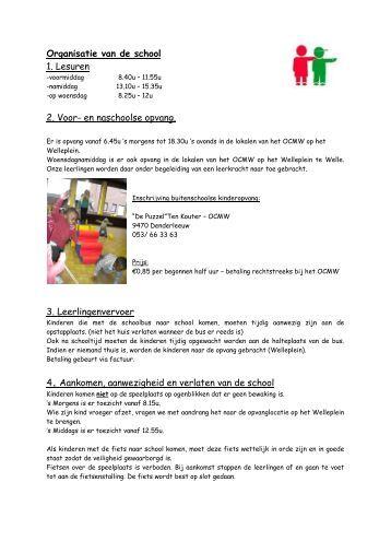 organisatie van de school - Vrije Basisschool Welle