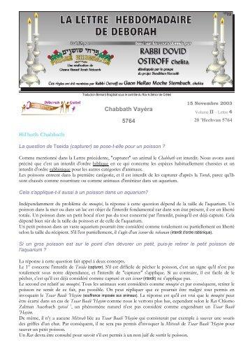 Volume II - lettre n°4 - Association Deborah Guitel