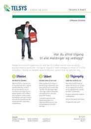 1 2 3 Effektivt Sikkert Tilgjengelig - Telsys AS