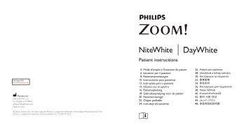 philips zoom whitening instructions