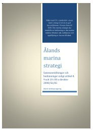 Ålands marina strategi - Ålands landskapsregering