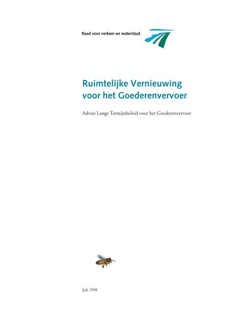 'Ruimtelijke vernieuwing voor het goederenvervoer' [pdf]