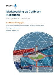 Eindrapport Marktwerking op Caribisch Nederland - Ecorys