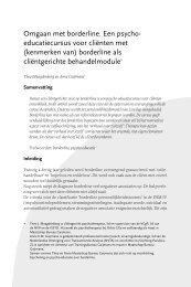 artikel omgaan met borderline uit Tijdschrift Cliëntgerichte ...