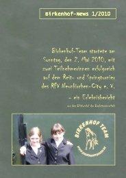 Heft 1 2010 Turnier Neunkirchen (Download 1.5 MB