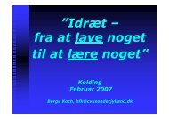 (Microsoft PowerPoint - Børge Koch - Status over faget idræt i ...
