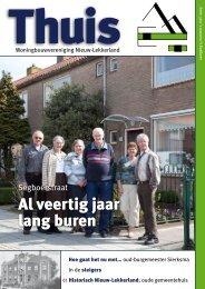Al veertig jaar lang buren - Woningbouwvereniging Nieuw-Lekkerland
