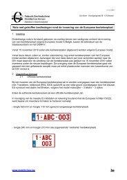 Beslissingen rond de invoering van de Europese kentekenplaat