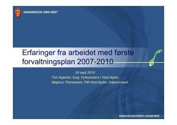 Tom Egerhei og Magnus Thomassen - Vest-Agder fylkeskommune