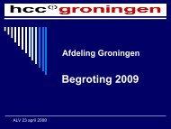 Financieel verslag - HCC afdeling Groningen