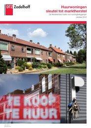 Huurwoningen sleutel tot marktherstel - DTZ Zadelhoff