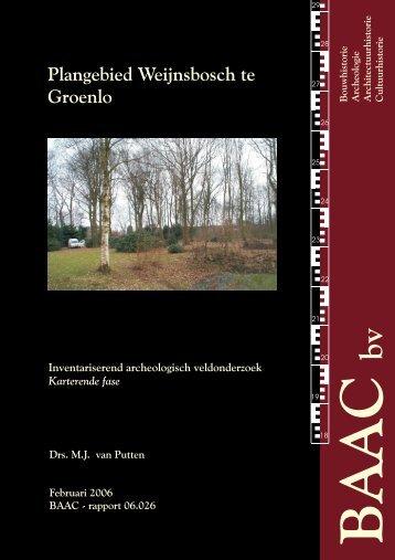 Plangebied Weijnsbosch te Groenlo - Oudheidkundige Vereniging ...