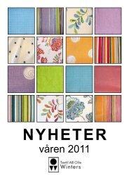 våren 2011 - Textil AB Olle Winters