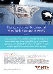 Fiscaal voordeel bij aanschaf Mitsubishi Outlander PHEV