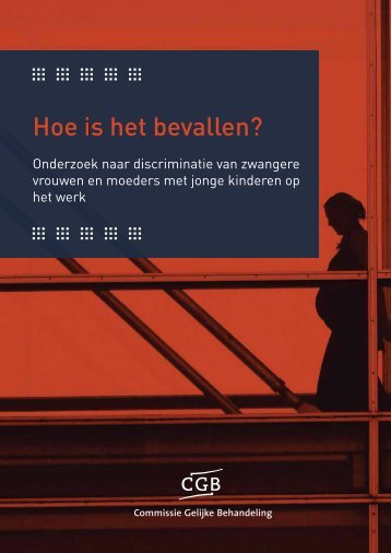 Hoe is het bevallen? - Discriminee