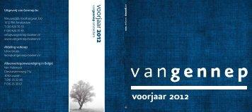 voorjaar 2012 - Van Gennep