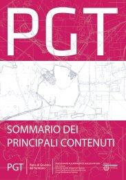 P.G.T. - Sommario dei principali contenuti - Comune di Milano