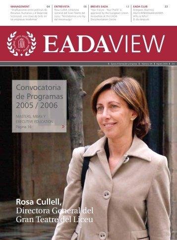 Rosa Cullell, Directora General del Gran Teatre del Liceu - EADA