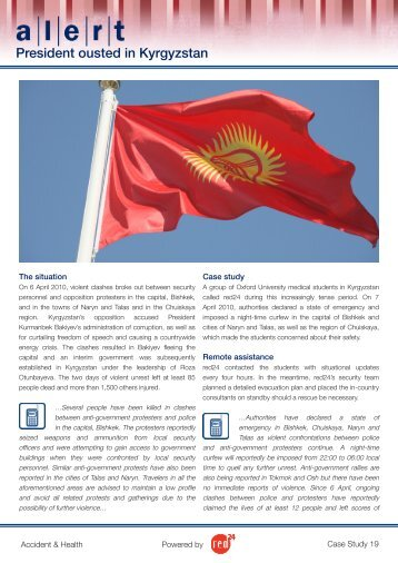 President ousted in Kyrgyzstan - Red24